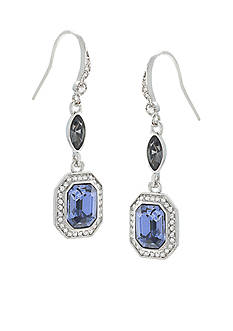 Carolee Large Deco Emerald Drop Earrings