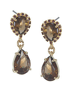 Carolee Double Drop Stone Earrings