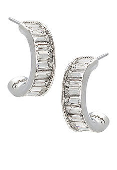 Carolee Very Vintage Baguette Hoops