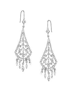 Carolee Crystal Fan Shaped Drop Earring