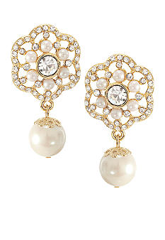 Carolee Ornate Pearl Drop Earring