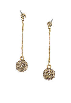 Carolee Mini Make Over Topaz Crystal Drop Pierced Earrings