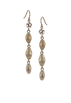 Carolee Satin Gold Linear Drop Earrings