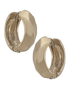 Carolee Satin Gold Hoop Earrings