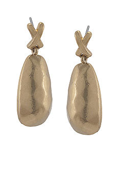 Carolee Gilded Sparkle Double Drop Earrings