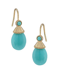 Carolee Blue Skies Turquoise Drop Pierced Earrings