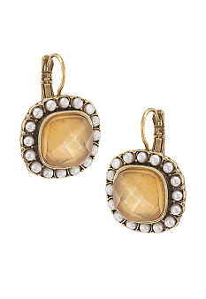 Carolee In Bloom Cushion Drop Pierced Earrings