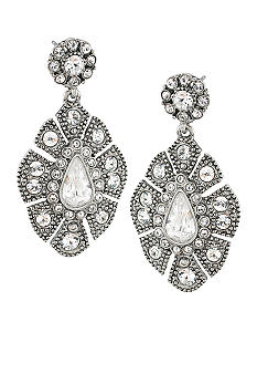 Carolee Ladylike Beauty Crystal Double Drop Pierced Earrings