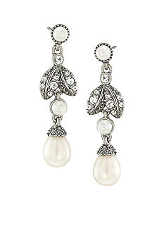 Carolee Ladylike Beauty Linear Drop Pierced Earrings