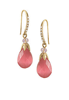 Carolee The Bright Side Tickled-Pink Teardrop Pierced Earrings