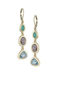 Carolee Triple Linear Drop Earrings