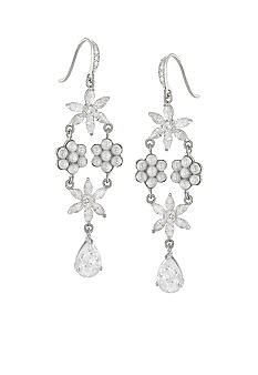 Carolee Debutant Ball Flower Chandelier Pierced Earrings