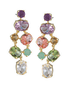 Carolee High Class Color Dramatic Chandelier Pierced Earrings