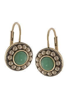 Carolee Sand Shades Circle Drop Pierced Earrings