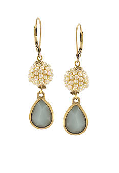 Carolee Sand Shades Double Drop Pierced Earrings