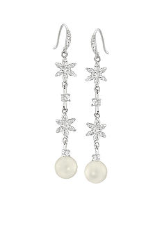 Carolee Debutant Ball Pearl Drop Linear Pierced Earrings