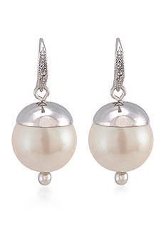 Carolee Picnic Pearls Drop Pierced Earrings