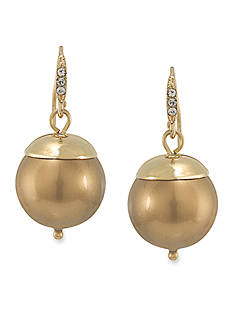 Carolee Cosmic Reflections Gold Pearl Drop Pierced Earrings