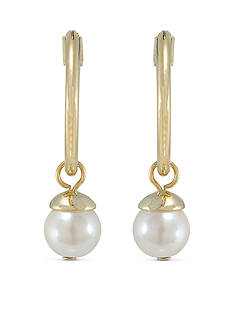 Carolee Manhattan Medley Hoop with Pearl Drop Pierced Earrings