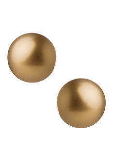 Carolee Gold Pearl Stud Earrings