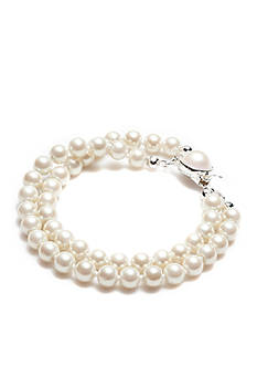 Carolee Double Strand 6MM Pearl Bracelet