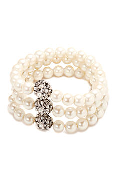 Carolee Triple Row Pearl Bracelet