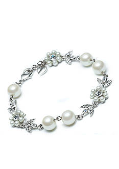 Carolee Floral Pearl and Crystal Bracelet
