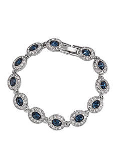Carolee Simply Blue Crystal Bracelet
