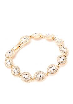 Carolee Gold-Tone Oval Crystal Stone Bracelet