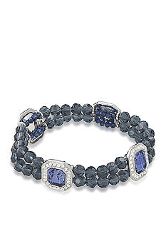 Carolee Royal Blue Double Row Stretch Bracelet
