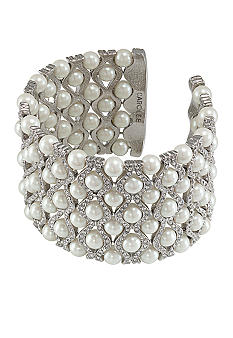 Carolee 40th Anniversary Outrageous Faux Dramatic Pearl Cuff Bracelet