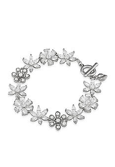 Carolee Debutant Ball Stone Flower Flex Bracelet