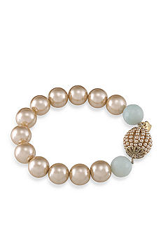 Carolee Sand Shades Beaded Stretch Bracelet