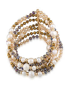 Carolee Gold-Tone Battery Park Multistrand Bracelet