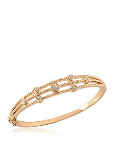 Carolee Gold-Tone Bryant Park Bangle Bracelet