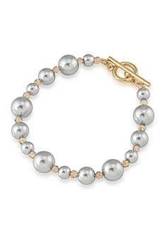 Carolee Gold-Tone West Side Pearl Bracelet