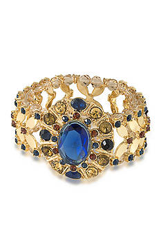 Carolee Gold-Tone Nine to Five Stretch Bracelet