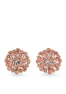 Carolee Pocket Park Cluster Button Earrings