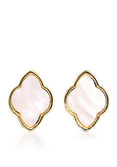 Carolee Gold-Tone Battery Park Button Clip Earrings