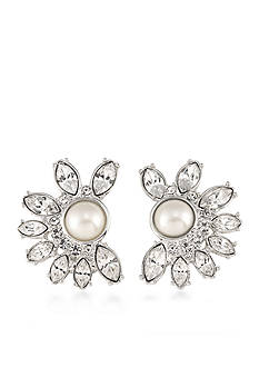 Carolee Silver-Tone Waldorf Clip On Earrings