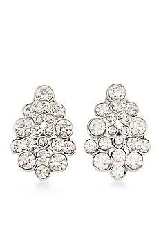 Carolee Silver-Tone East Side Clip On Earrings