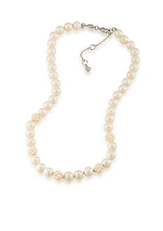 Carolee Silver-Tone Washington Pearl Collar Necklace