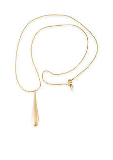 Carolee Gold-Tone Riverside Park Pendant Long Necklace