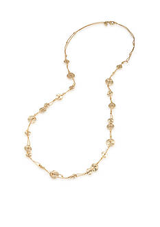 Carolee Gold-Tone Riverside Park Strand Necklace