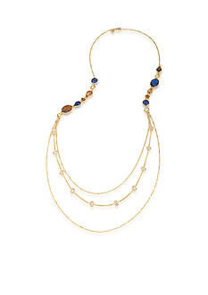 Carolee Gold-Tone Nine to Five Multistrand Necklace