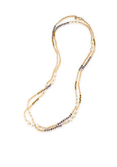 Carolee Gold-Tone Battery Park Long Necklace