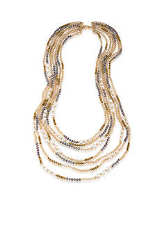 Carolee Gold-Tone Battery Park Multistrand Necklace