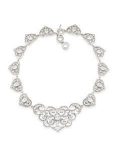 Carolee Silver-Tone The Cloisters Clear Crystal Statement Necklace