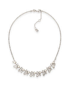 Carolee Silver-Tone Waldorf Crystal Statement Necklace