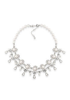 Carolee Silver-Tone Waldorf Statement Necklace